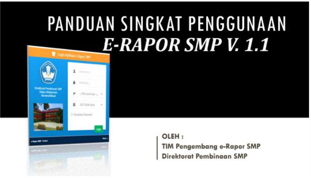 Aplikasi E-Rapor SMP 2017 Versi 1.1 Updater