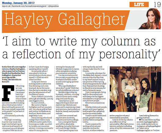 MY NEWSPAPER COLUMN