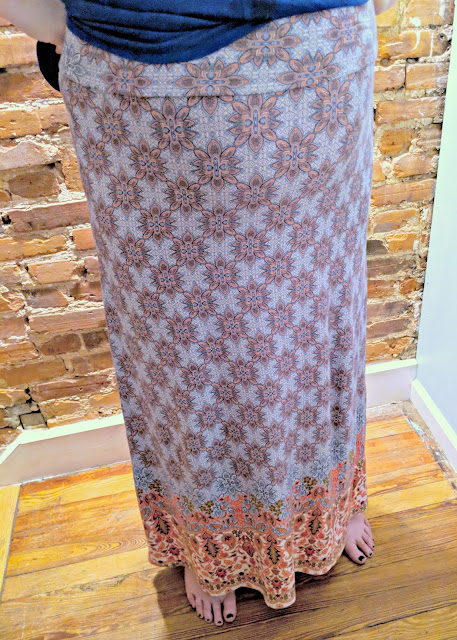 Loveapella Zaria Border Print Maxi Skirt