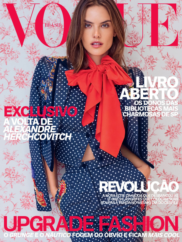 ALESSANDRA AMBROSIO COVERS VOGUE BRAZIL APRIL ISSUE