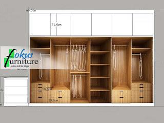 gambar desain lemari dan drawer ruangan utama