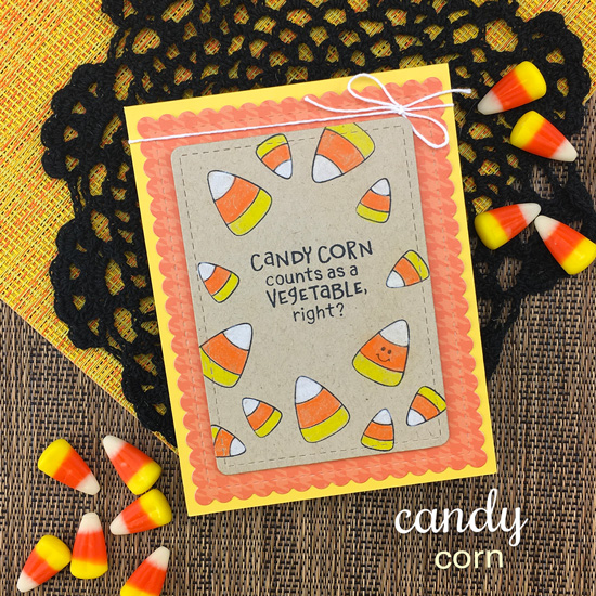 Candy Corn Card by Jennifer Jackson | Candy Corn Stamp Set by Newton's Nook Designs #newtonsnook #handmade #halloween