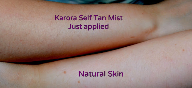 Karora - tinted self tan mist - fake tan - self tan - spray - bronzed bombshell - medium tan - dark tan
