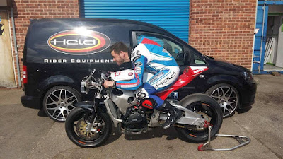 Dan Hegarty getting ready for the NW200