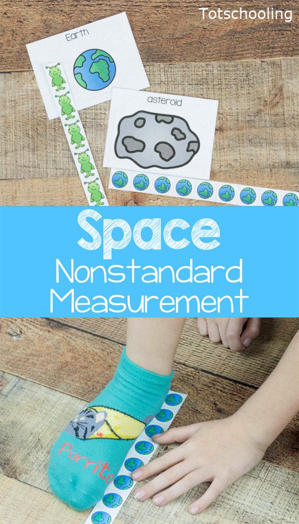 Space Nonstandard Measurement Activity | Totschooling - Toddler ...