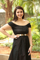 Mannara Chopra in Short Off Shoulder Black Dress ~  Exclusive 044.JPG