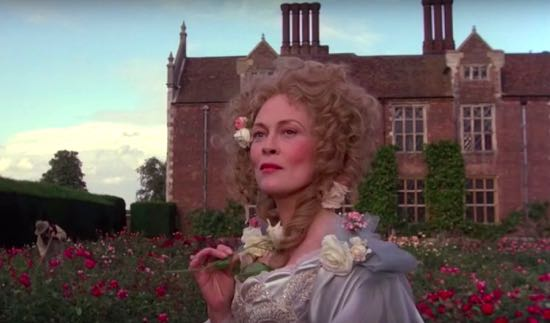 Screen grab from the film The Wicked Lady showing North Mymms House in the background Image by the North Mymms History Project