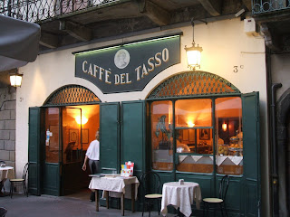 The Caffè del Tasso in Bergamo was renamed in honour of the poet
