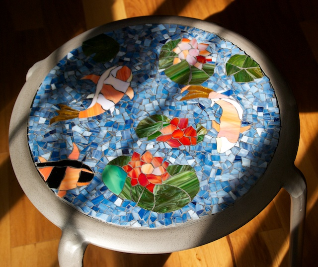 Table Mosaic Patterns: Playing With Broken Glass
