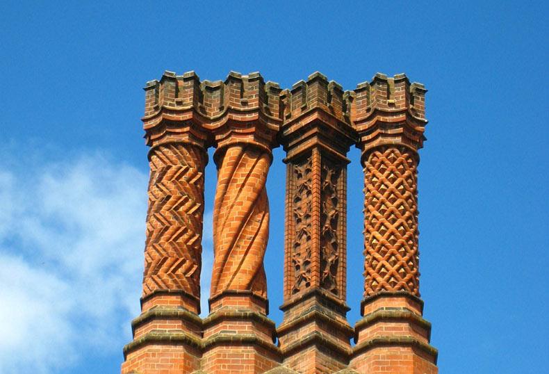 Las chimeneas del Palacio de Hampton Court | Inglaterra
