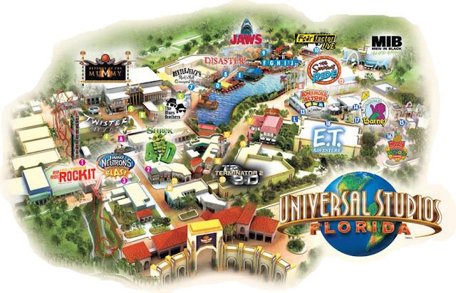 Mapa Universal Studios