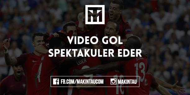 Video Detik-Detik Eder Cetak Gol Kemenangan Portugal