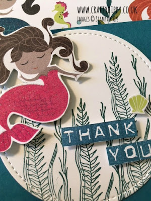 How to make embellishments using the Mermaids from the Myths & Magic Specialty Designer Series Paper by Stampin' Up!