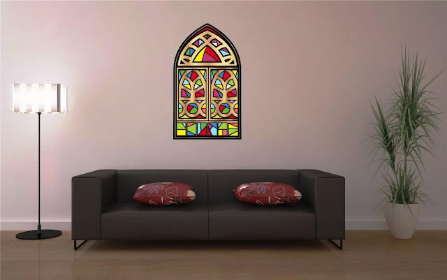 Stained GLASS Decals for WINDOWS