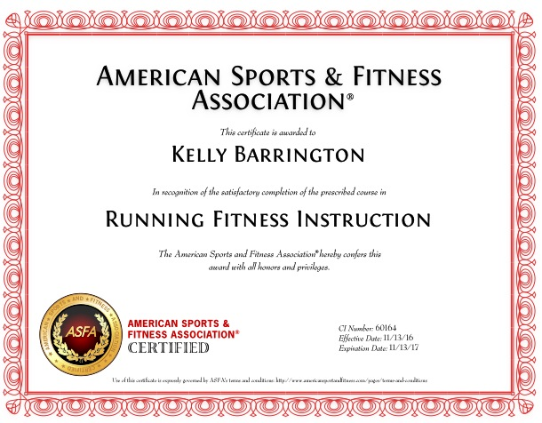 Contours Personal Training: Running Fitness Instruction