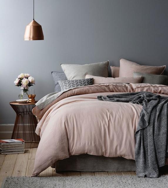 cinza e rosa na decoracao-do-quarto-abrir-janela