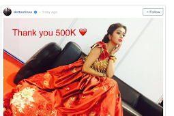 Instagram Tina Dutta Uttaran Tembus 500K Setelah Dari Indonesia