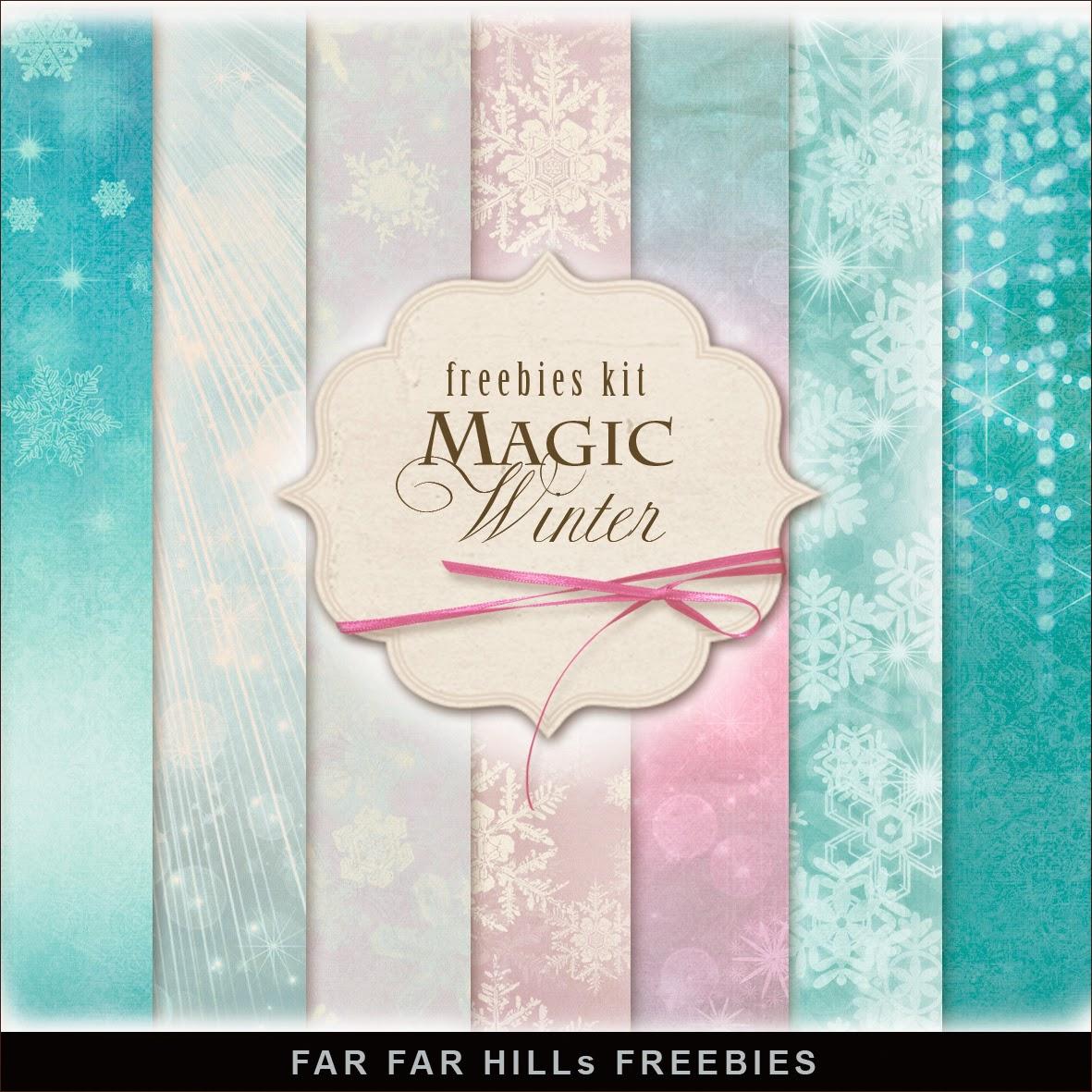 Freebies kit of Backgrounds - Magic Winter