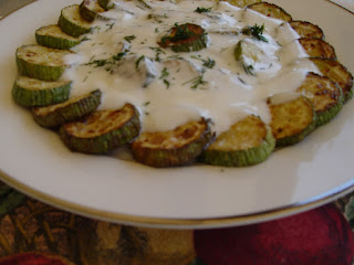 Fried Zucchini with Yogurt Sauce (Yogurtlu Kabak Kizartmasi)