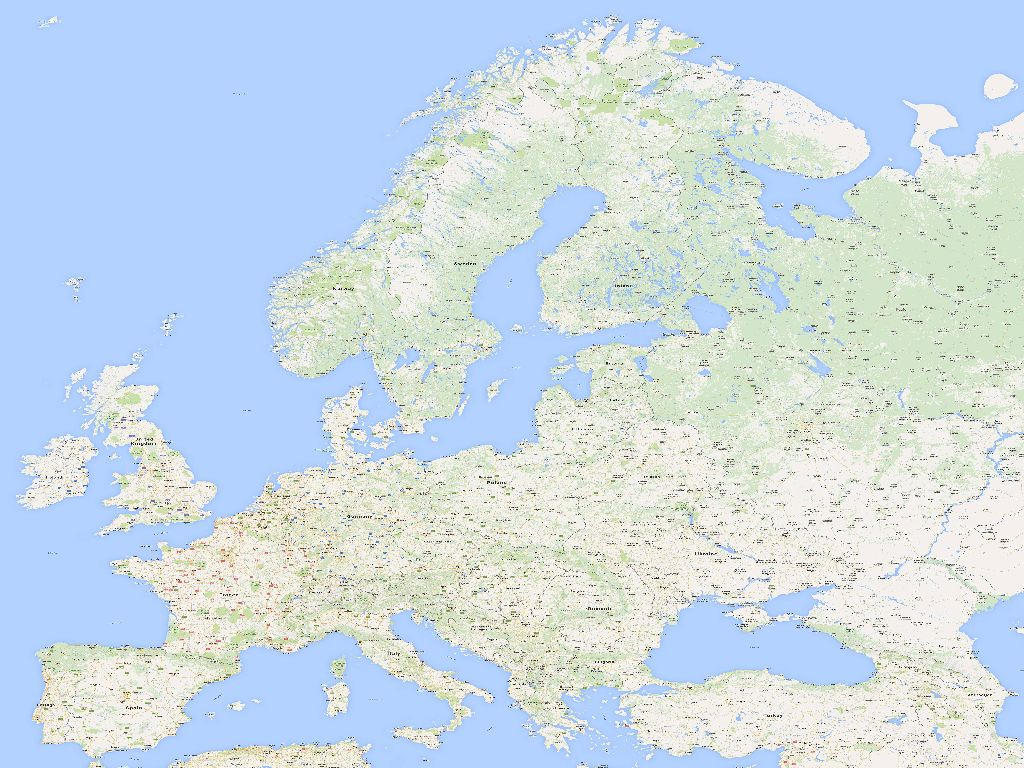 high resolution map of europe