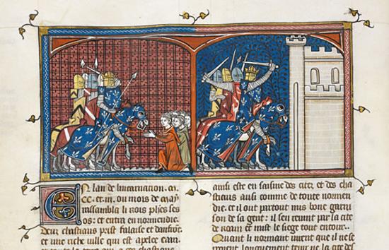 Manuscrito 'Grandes chroniques de France'