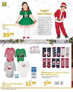 CATALOG LIDL Decoratiuni de Craciun 2018 costume pentru copii