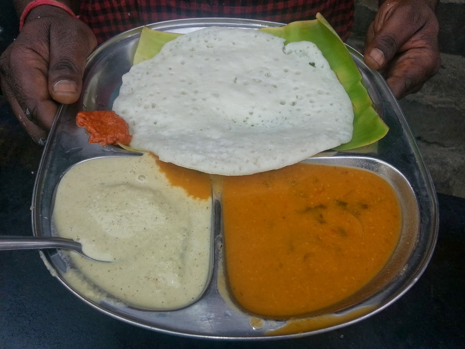 Hyderabad Foodaholix Mahalaxmi Tiffins steamed Dosa
