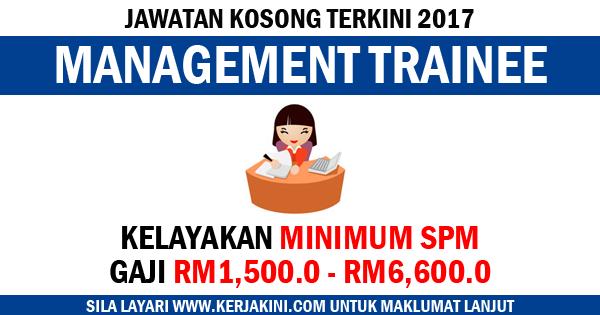 jawatan kosong sebagai management trainee
