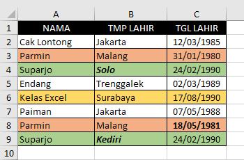 Cara Menghapus Data Ganda Pada Excel 4