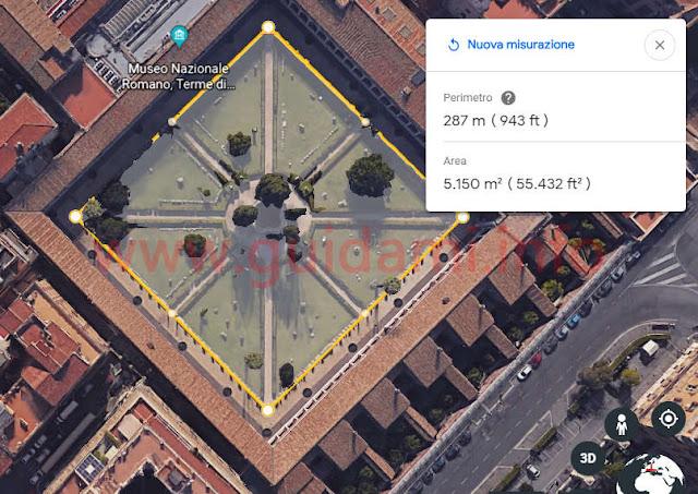 Strumento Misura distanza di Google Earth