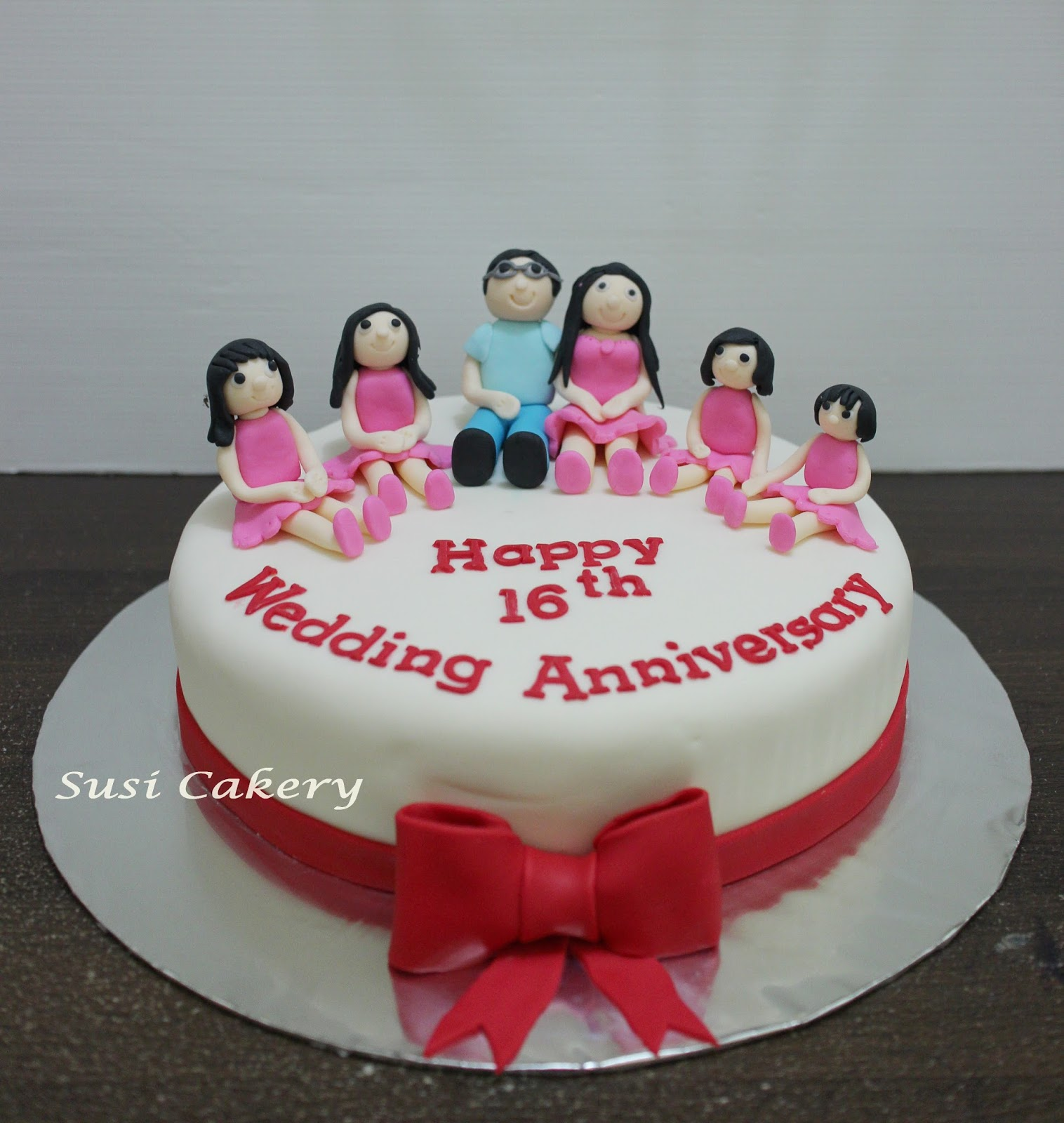 Susi Cakery Happy 16th Wedding Anniversary Cake