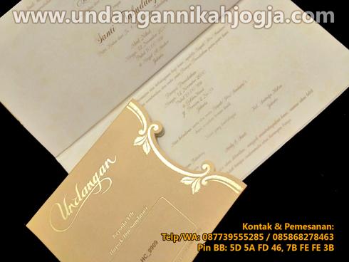 Undangan pernikahan hardcover blangko exclusive