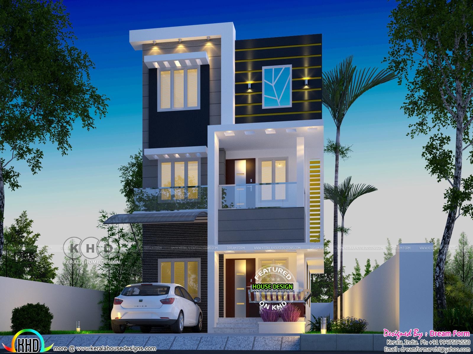 Beautiful 3 Bedroom Home Under 1000 Sq Ft Kerala Home