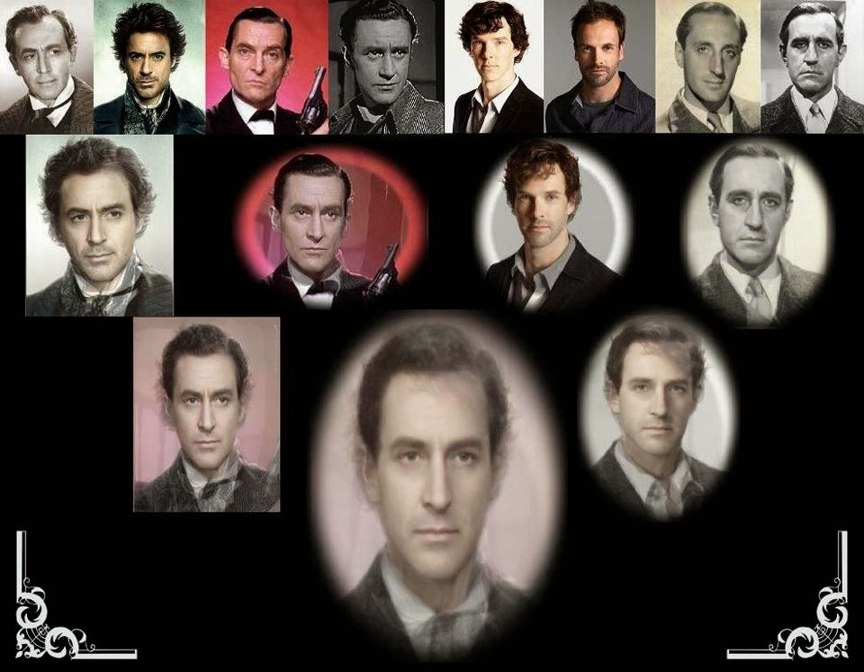 The creative process on combining the images of Vasily Livanov, Robert Downey Jr, Jeremy Brett, Ronald Howard, Benedict Cumberbatch, Jonny Lee Miller, Basil Rathbone and Douglas Wilmer to create the ideal Sherlock Holmes