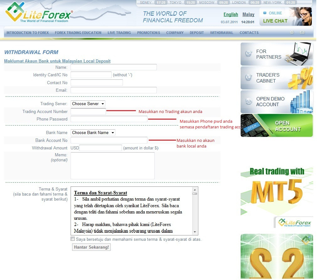Corretores forex on-line Rio Grande do Sul: Borang deposit liteforex malaysia deposit