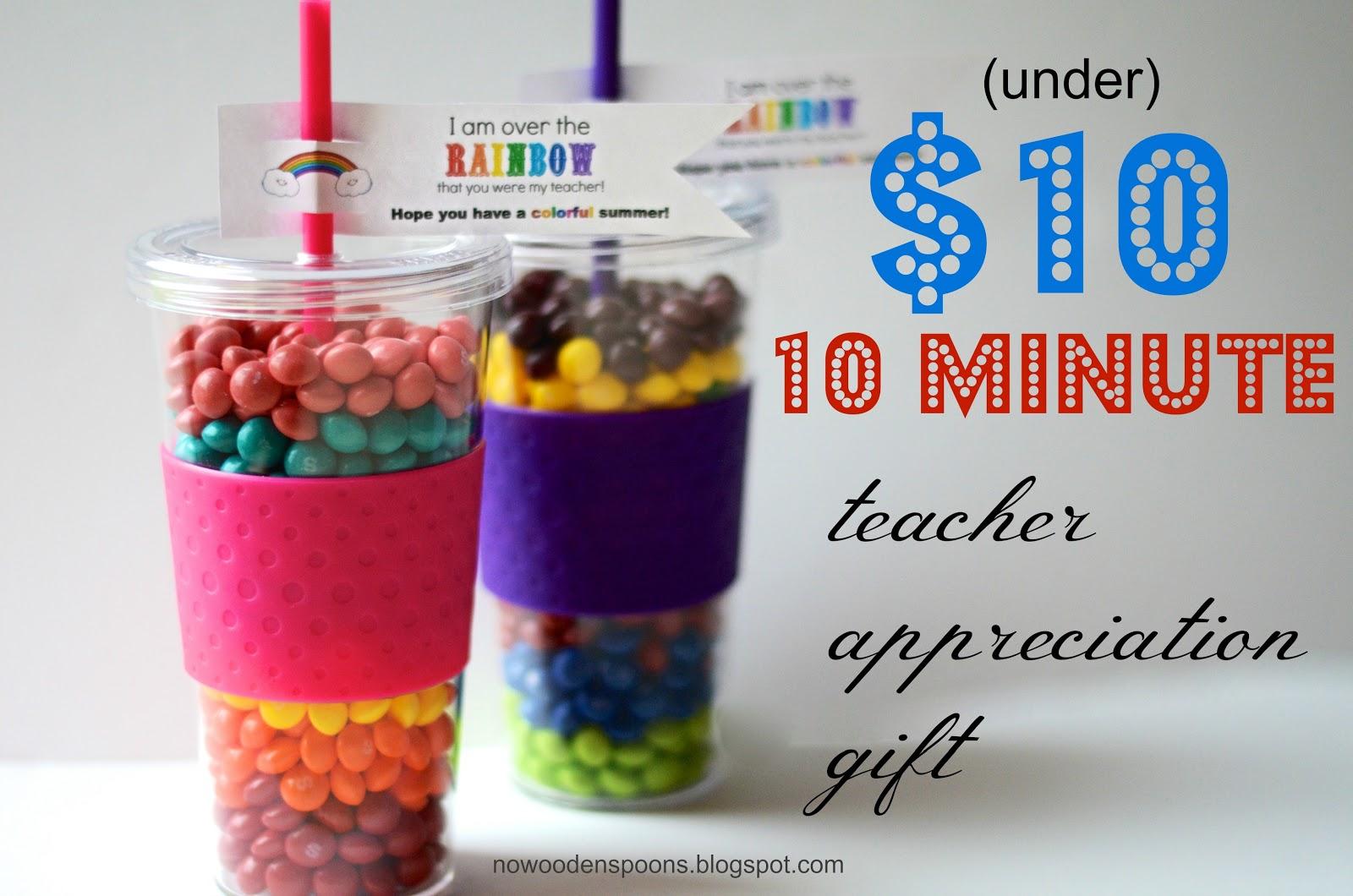 No Wooden Spoons: Teacher Appreciation Gift ($10, 10 mins)