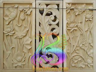 Contoh motif relief ukir batu alam paras jogja