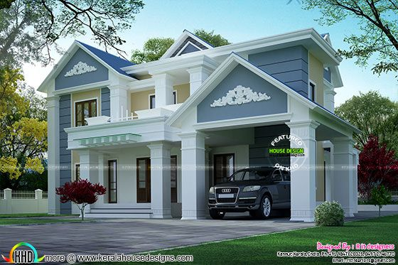 3354 sq-ft house exterior design