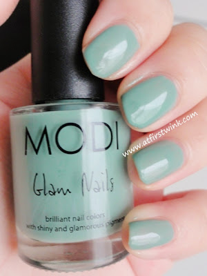 Modi Glam nails 47 - Mint latte review
