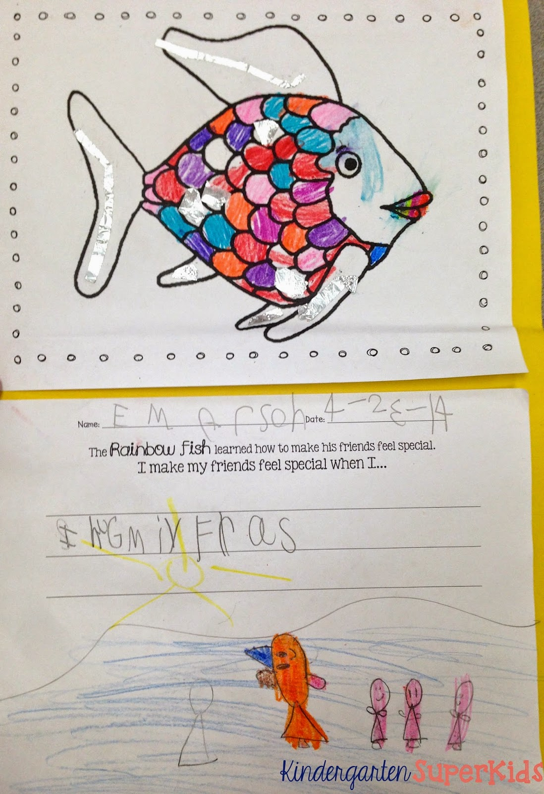 Kindergarten Superkids Fish Frenzy Literacy Resources A Rainbow Fish Freebie