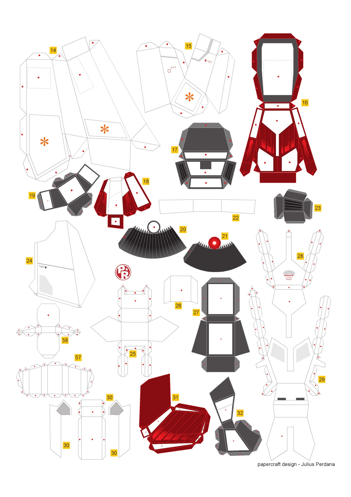 Geek's Republic: Unicorn Gundam by paper-replika [Part 3