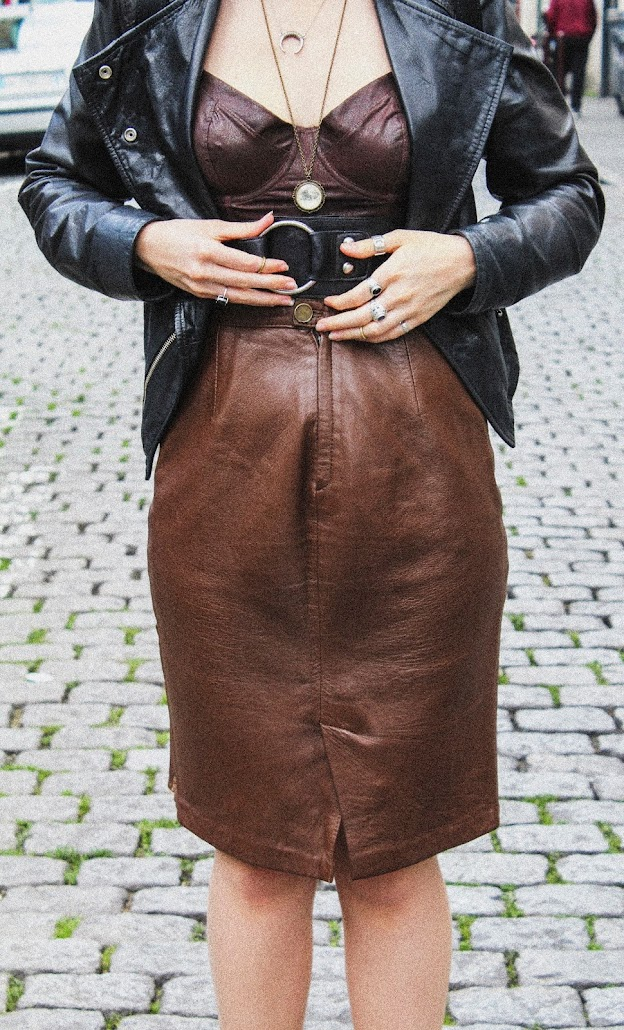 Steampunk cuir millim look fashion inspiration style lille blogger vintage