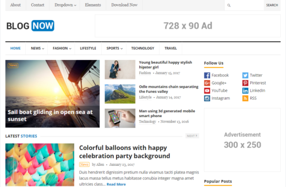 Tema Wordpress Gratis - BlogNow