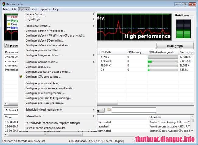 Process Lasso Pro 9.0.0.464 Full Cr@ck – Phần mềm tối ưu và khắc phục sự cố treo máy tính