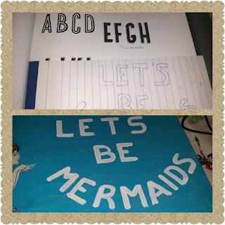 mermaid print lettering