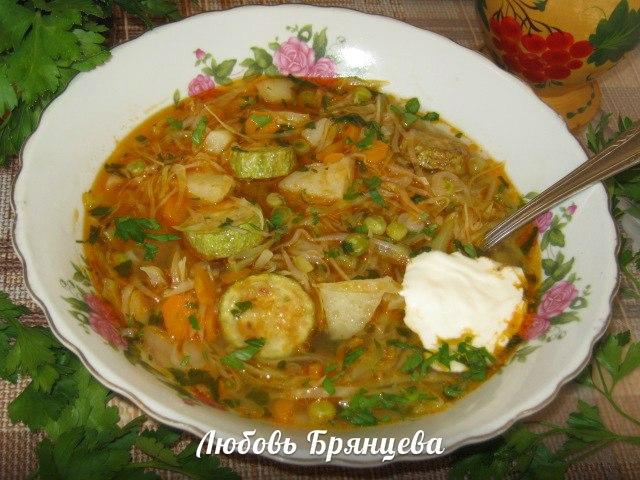 рецепт овощного украинского супа