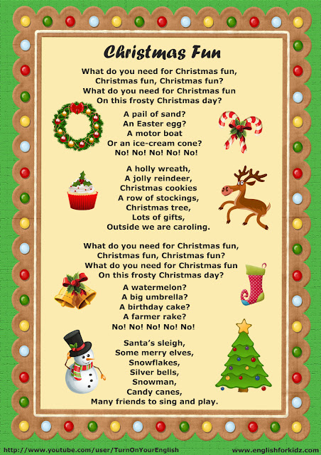 esl christmas fun song lyrics