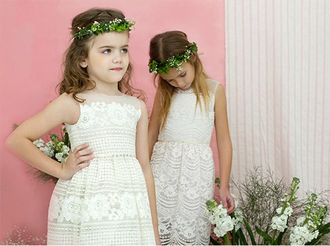 Vestidos de moda primavera verano 2018 nenas.