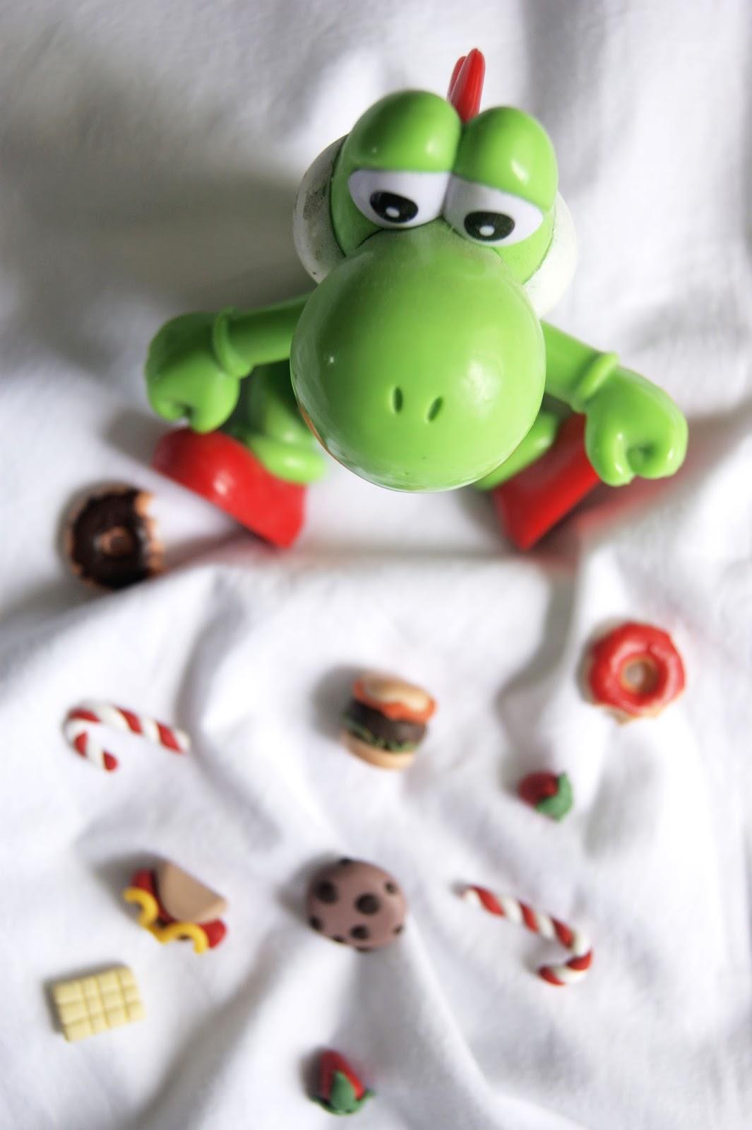 Super mario Yoshi - Leite com biscoitos