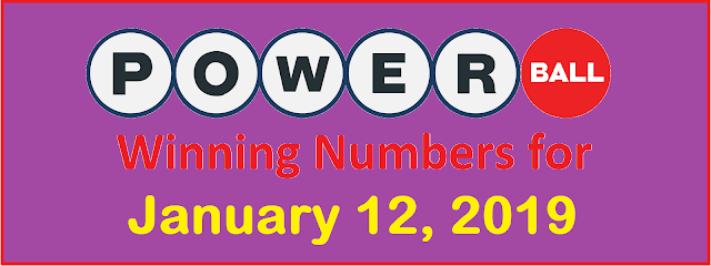 PowerBall Winning Numbers for Saturday, 12 January 2019